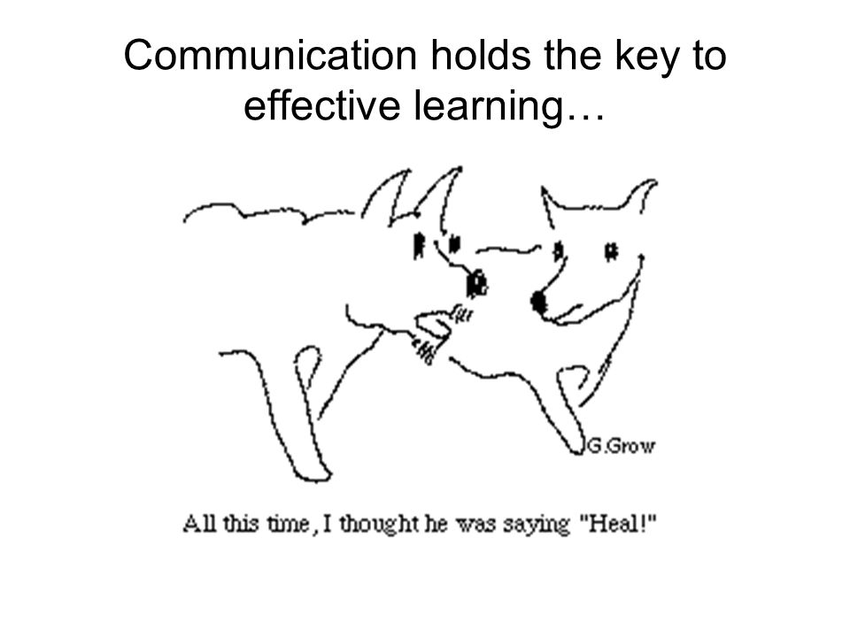 Communication holds the key to effective learning…