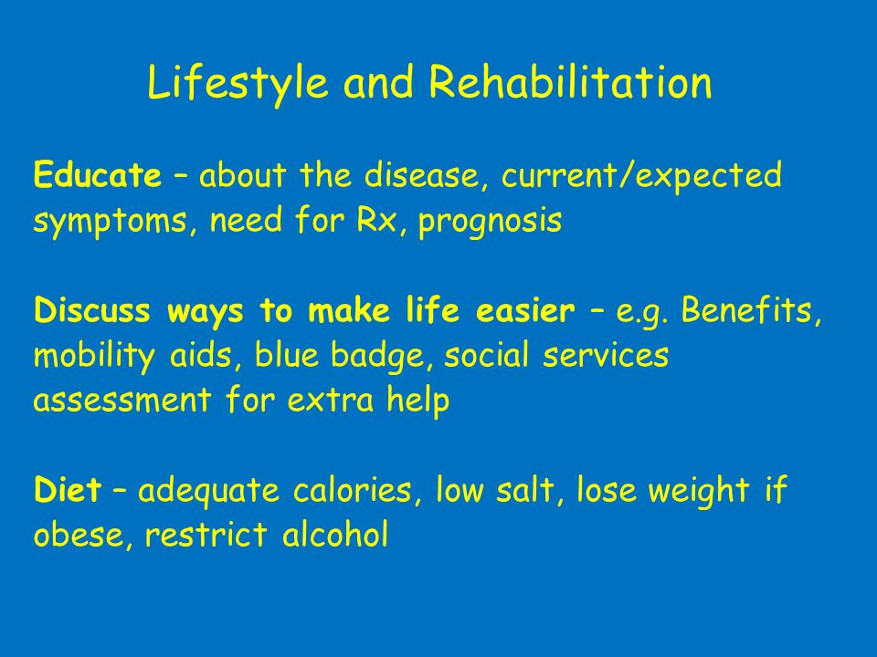 Lifestyle and Rehabilitation