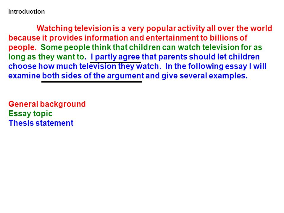 Children and television essay