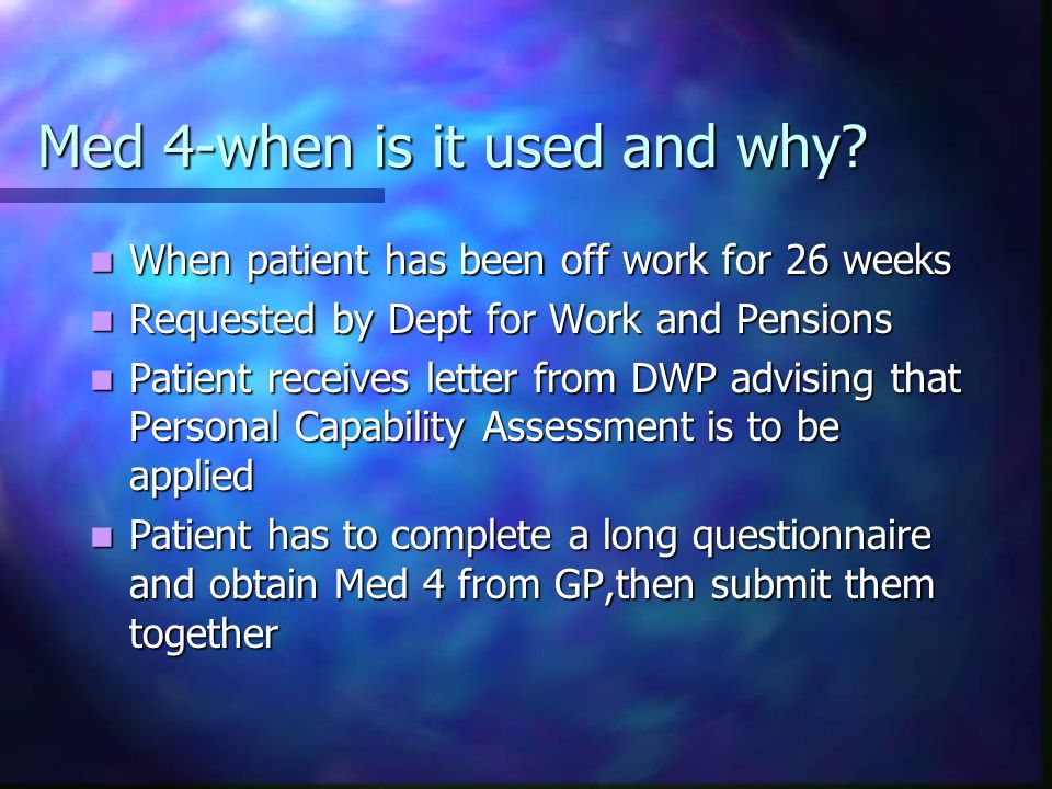 Med 4-when is it used and why
