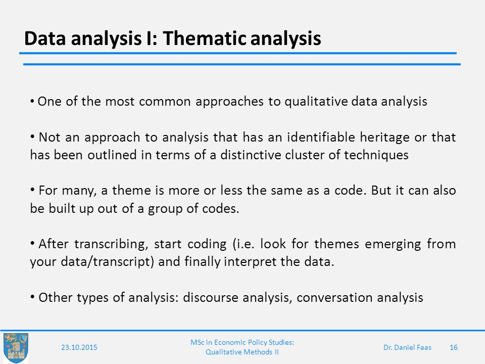 analysis of various themes in the Techniques to identify themes in qualitative data  data analysis is the task of discovering themes by themes, we mean abstract, often fuzzy, constructs which .