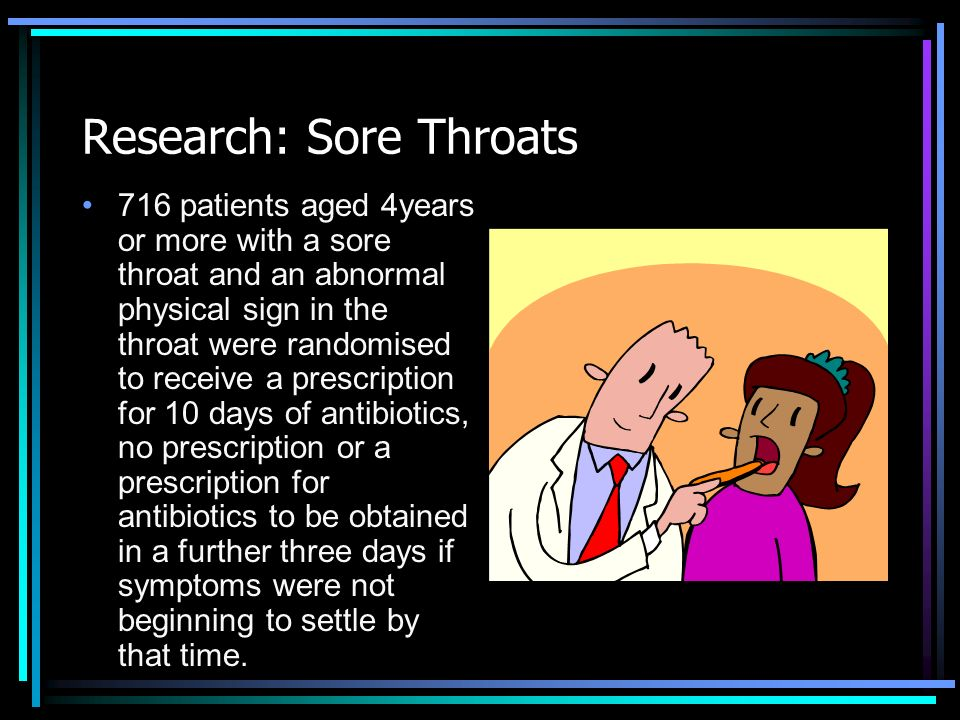 Research: Sore Throats