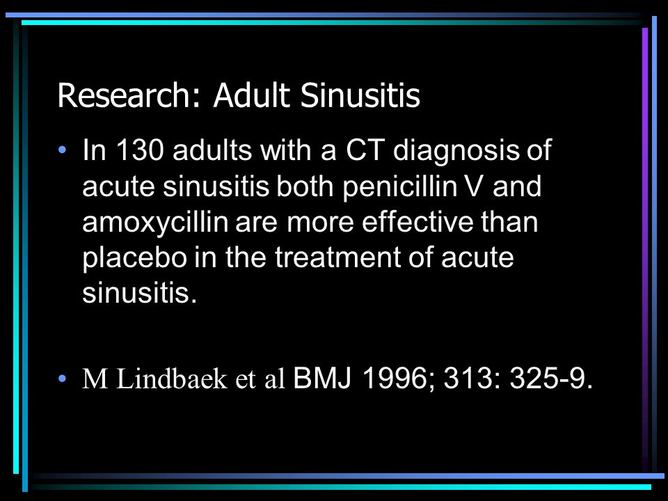 Research: Adult Sinusitis