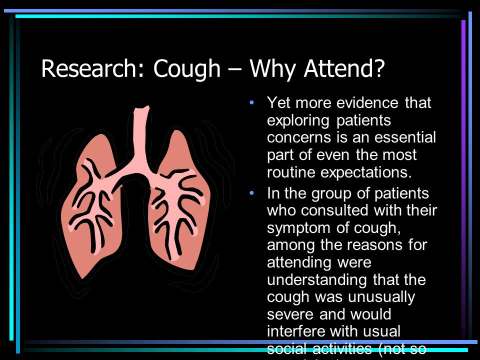 Research: Cough – Why Attend