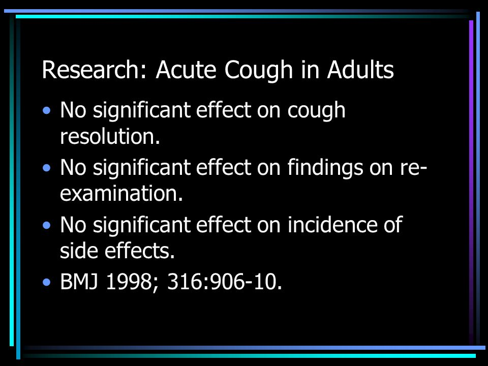 Research: Acute Cough in Adults