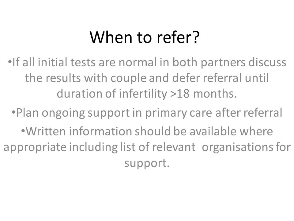 Plan ongoing support in primary care after referral