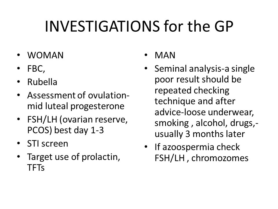 INVESTIGATIONS for the GP