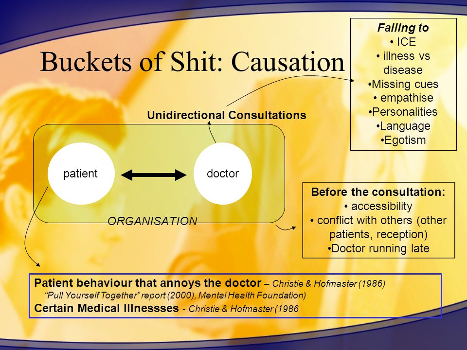 Buckets of Shit: Causation