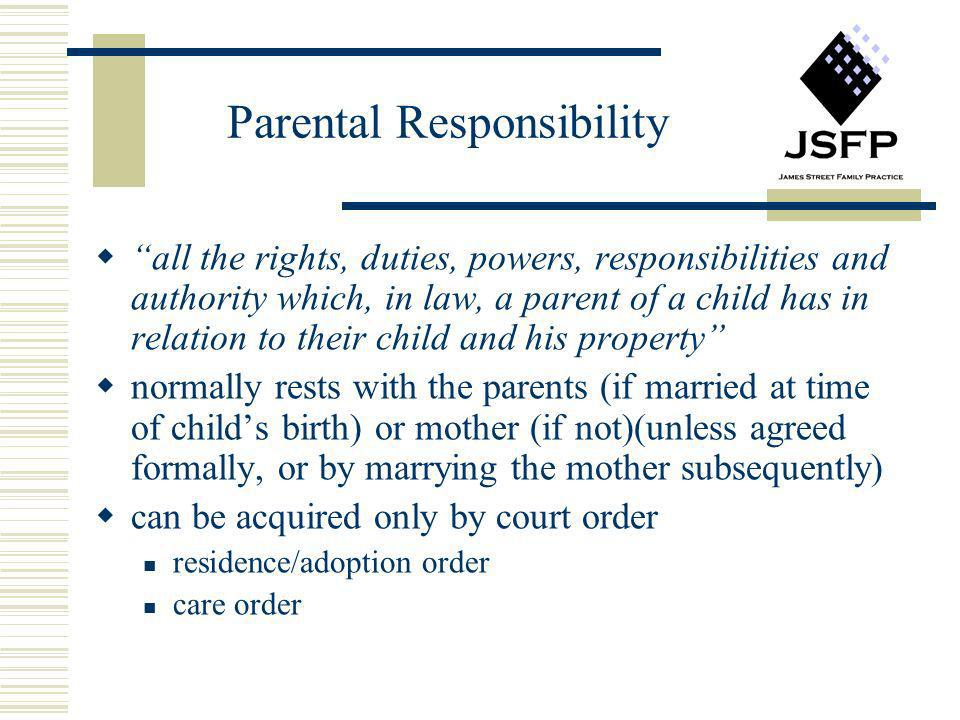 how to get parental responsibility order