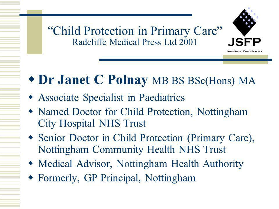 Child Protection in Primary Care Radcliffe Medical Press Ltd 2001