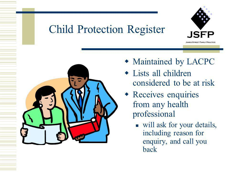 Child Protection Register