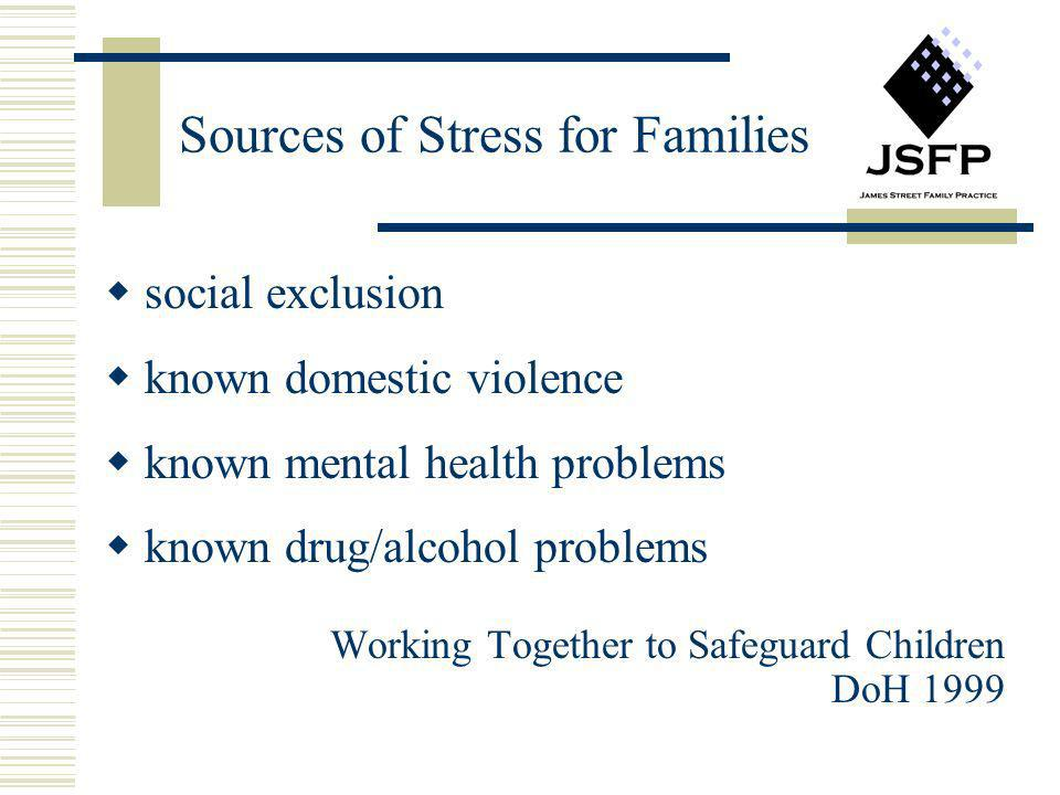 Sources of Stress for Families