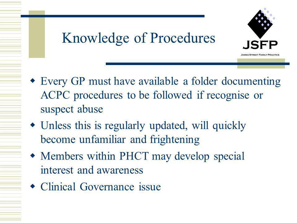 Knowledge of Procedures