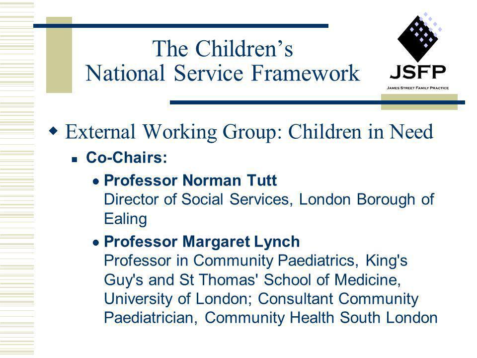 The Children's National Service Framework