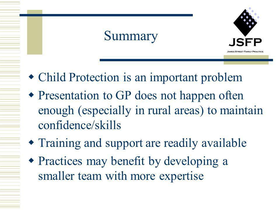 Summary Child Protection is an important problem