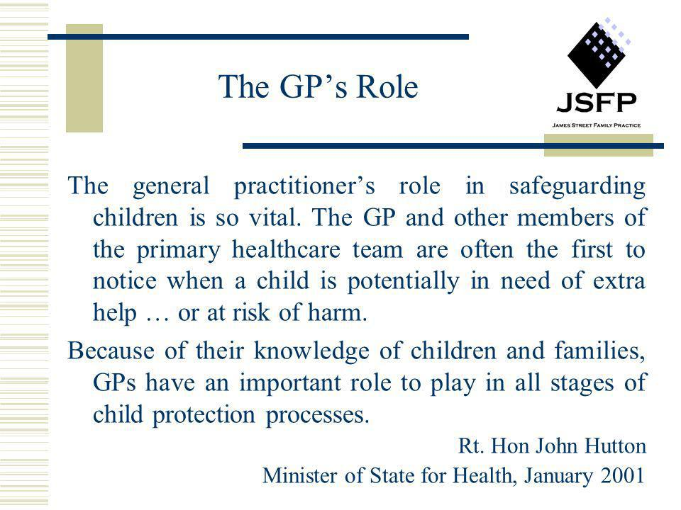 The GP's Role