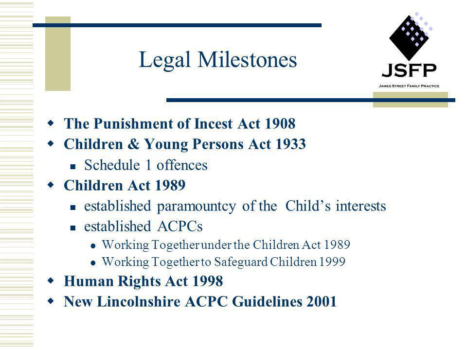 Legal Milestones The Punishment of Incest Act 1908