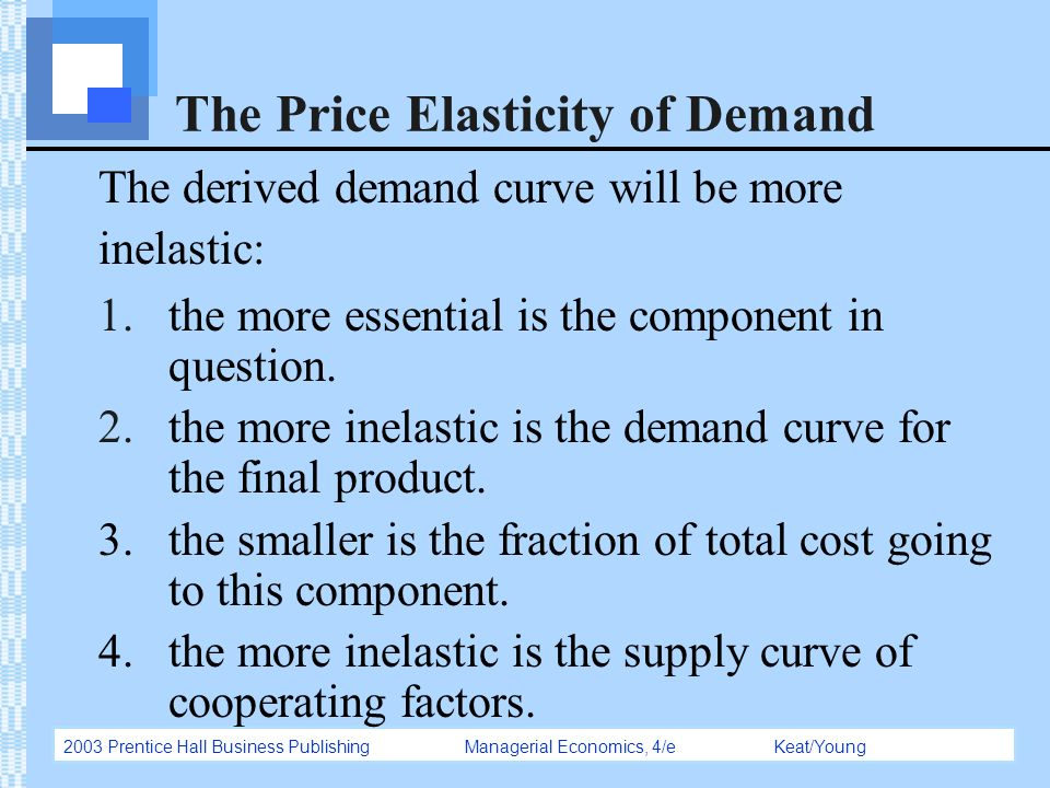 concept of elasticity Price elasticity of demand measures the responsiveness of quantity demanded for a product to a change in price it is one of the most important concepts in.