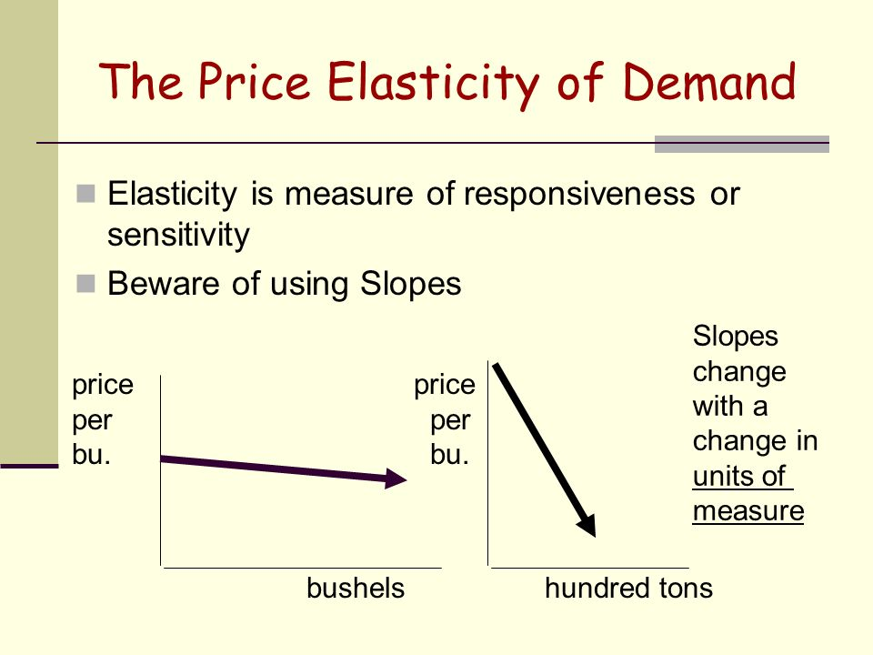 an analysis of price elasticity Elasticity is a central concept in economics, and can be applied in many situations find videos on elasticity here basic demand and supply analysis tells us that economic variables, such as price, income and demand, are causally related.