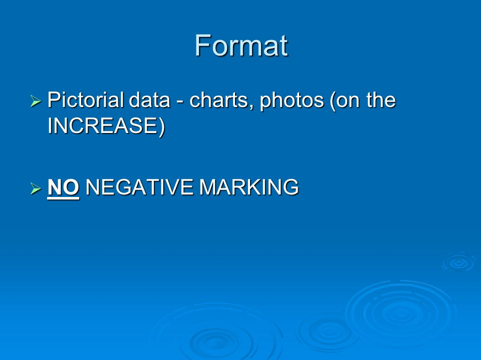 Format Pictorial data - charts, photos (on the INCREASE)