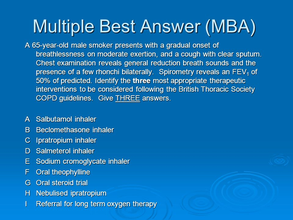 Multiple Best Answer (MBA)