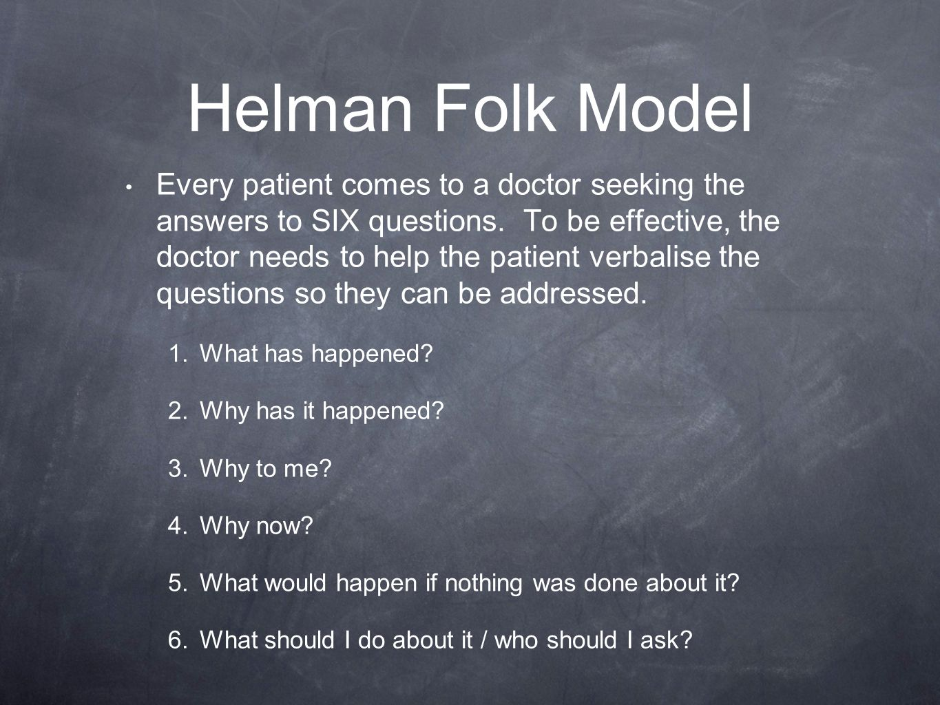 Helman Folk Model