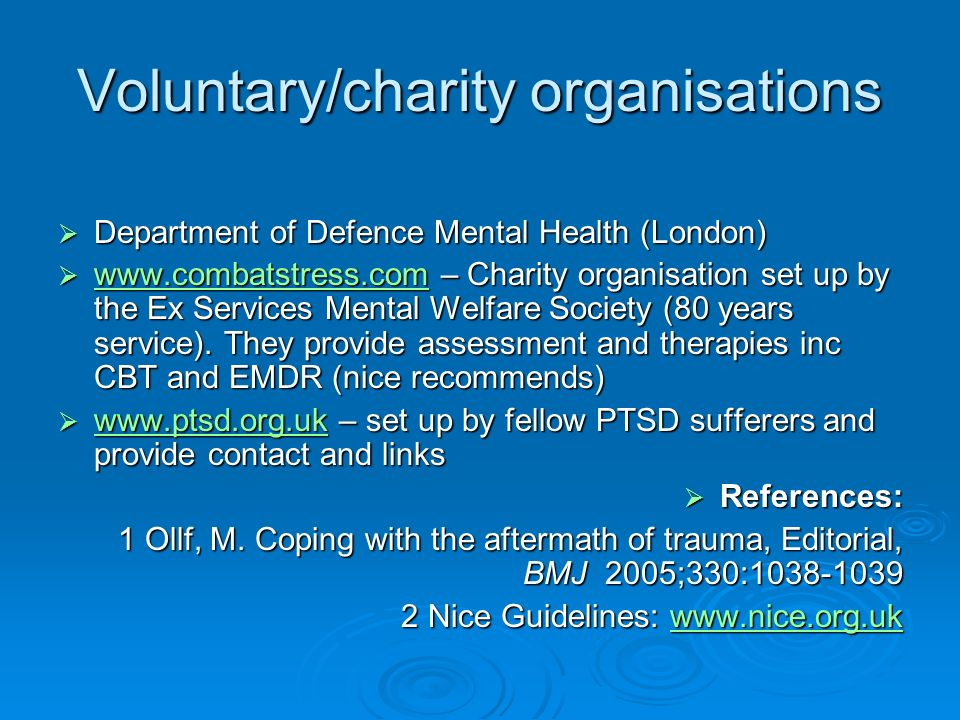 Voluntary/charity organisations