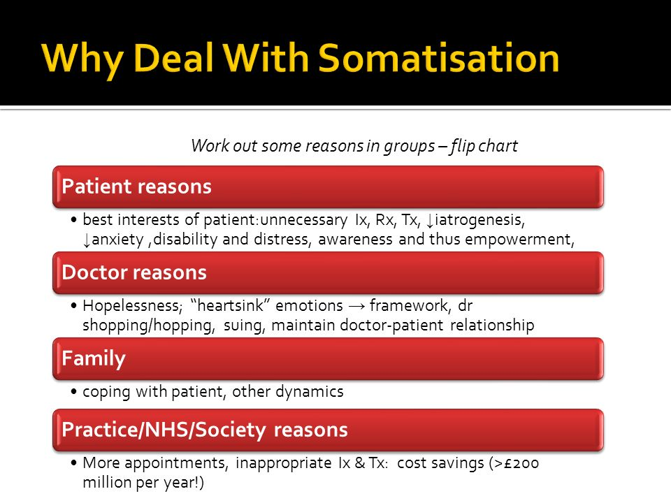 Why Deal With Somatisation
