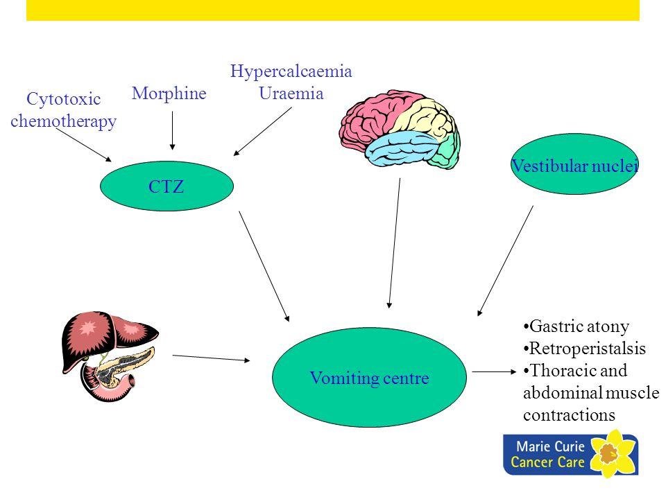 HypercalcaemiaUraemia Morphine Cytotoxic chemotherapy