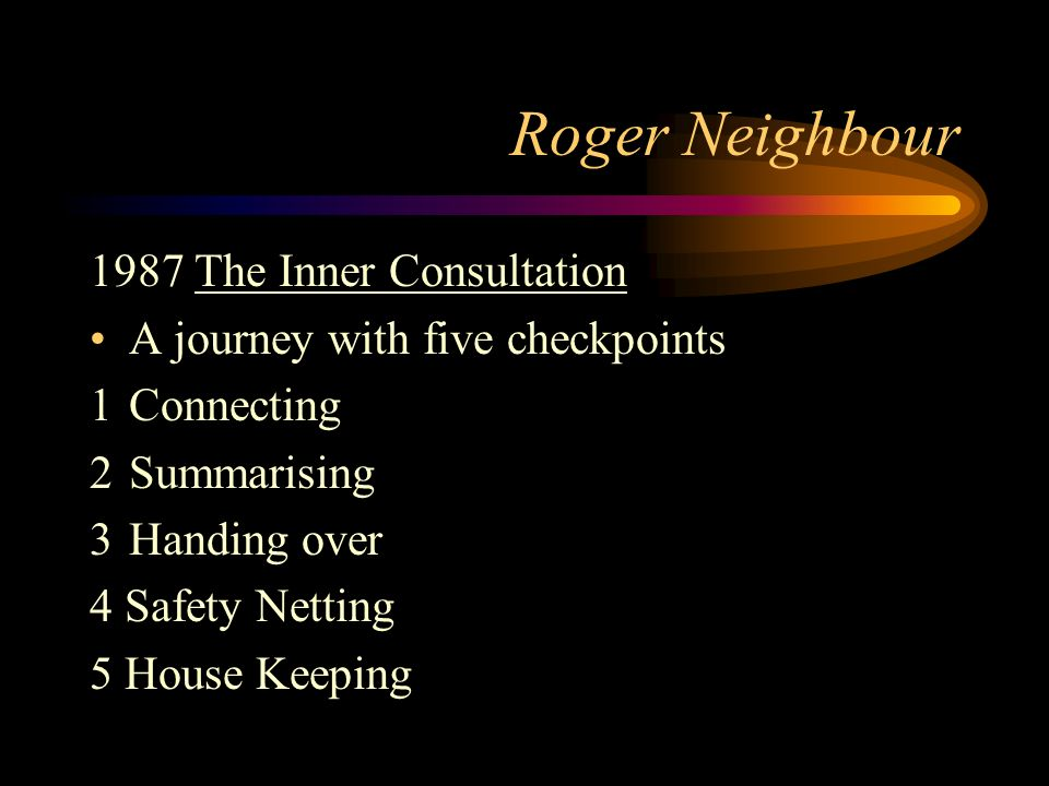 Roger Neighbour 1987 The Inner Consultation