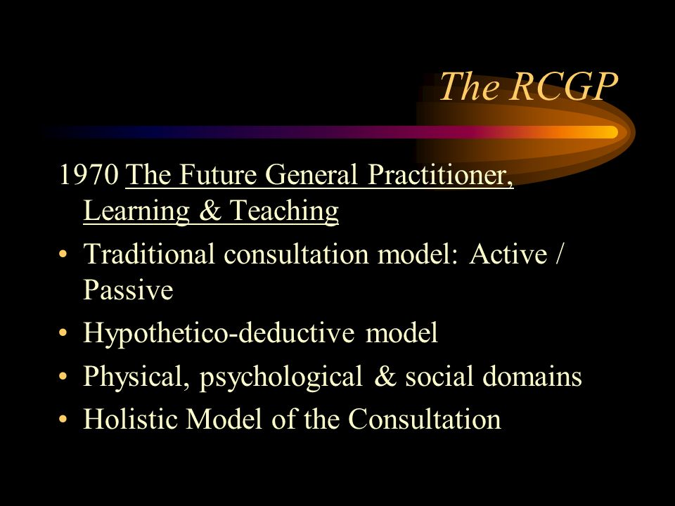 The RCGP 1970 The Future General Practitioner, Learning & Teaching