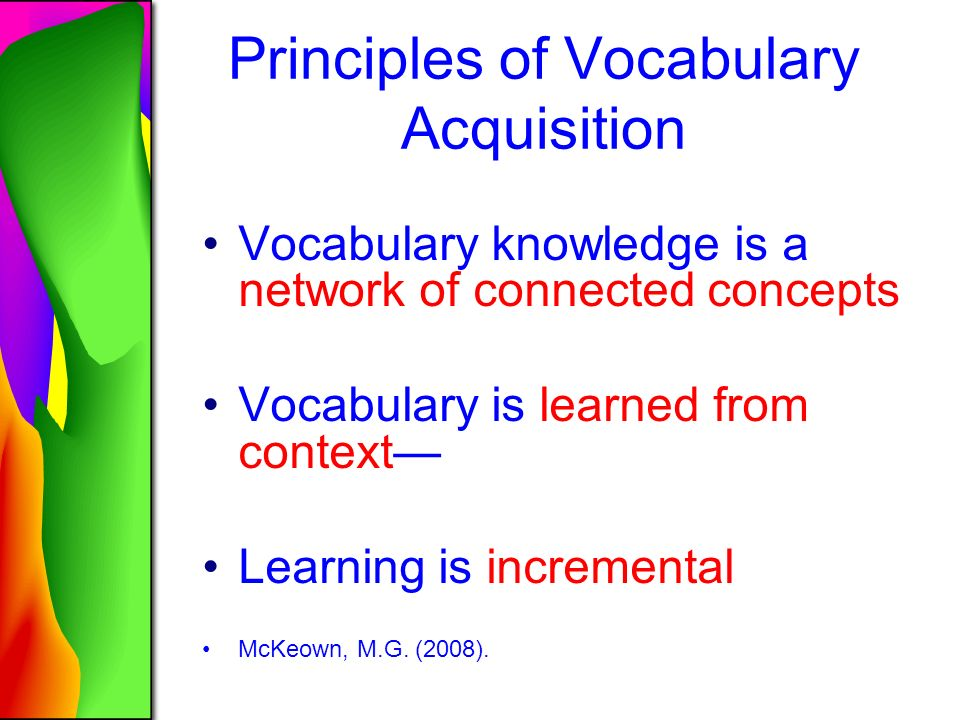Principles Of Data Acquisition : Building academic vocabulary grades ppt download