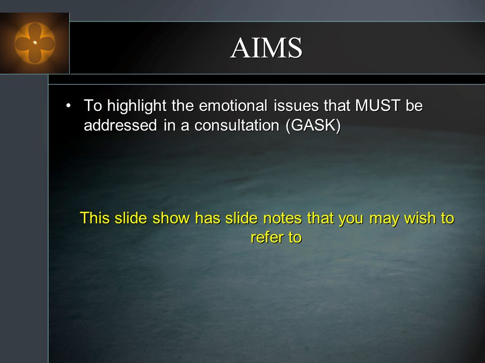 This slide show has slide notes that you may wish to refer to