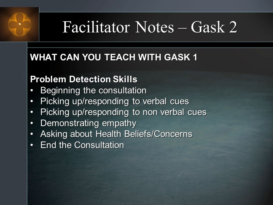 Facilitator Notes – Gask 2