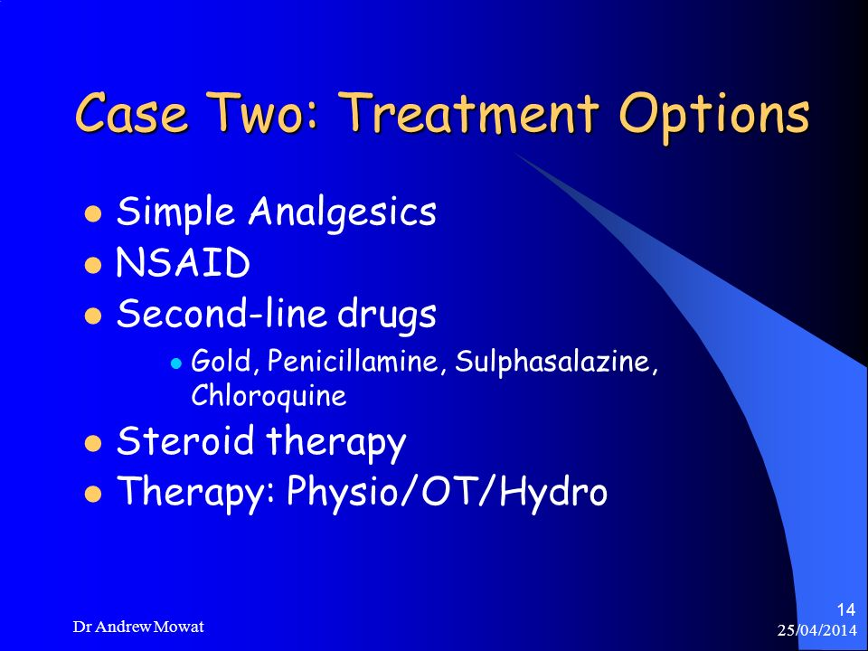 Case Two: Treatment Options