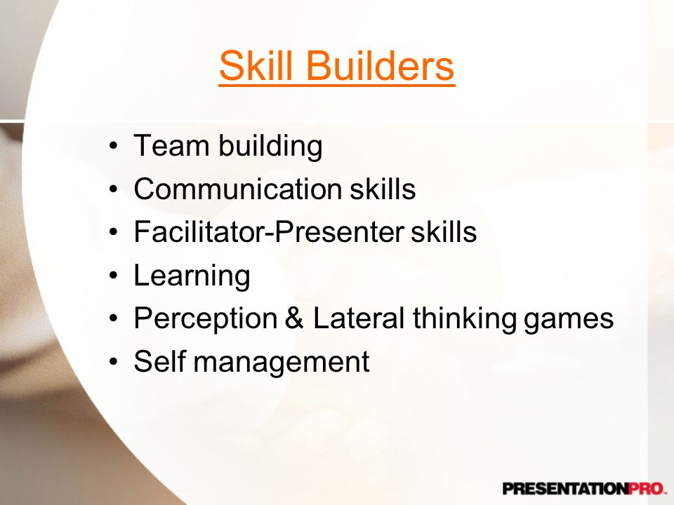 Skill Builders Team building Communication skills