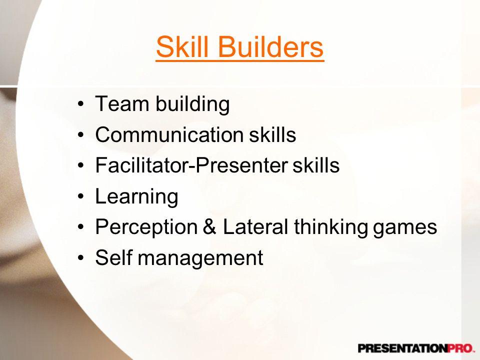 Skill Builders Team building Communication skills