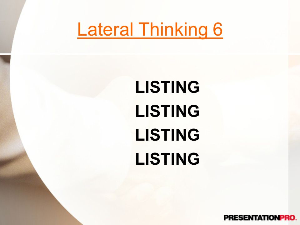 Lateral Thinking 6 LISTING Multiple listings