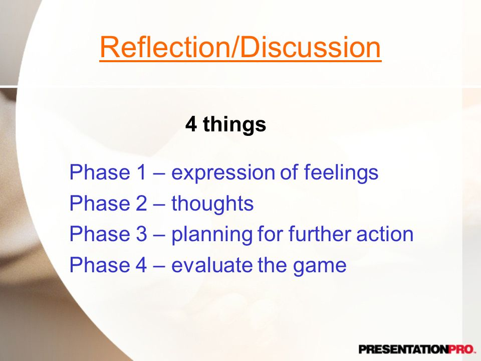 Reflection/Discussion