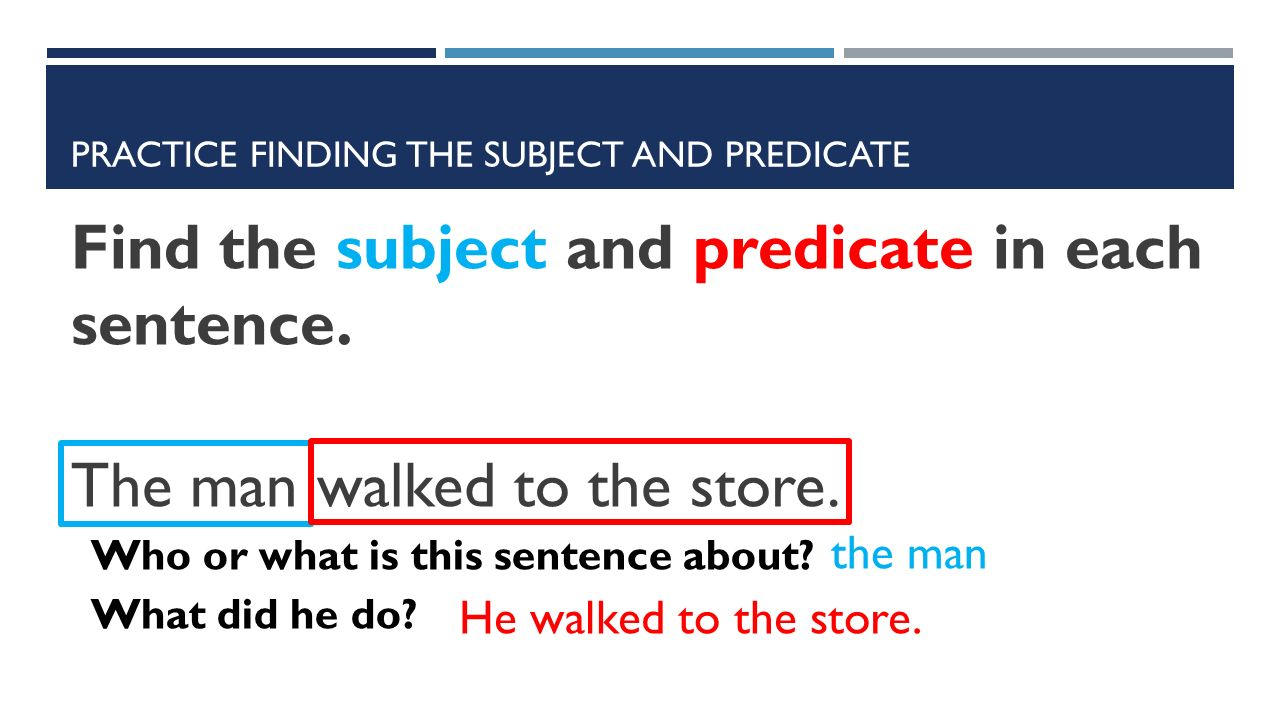how to tell what the subject of a sentence is