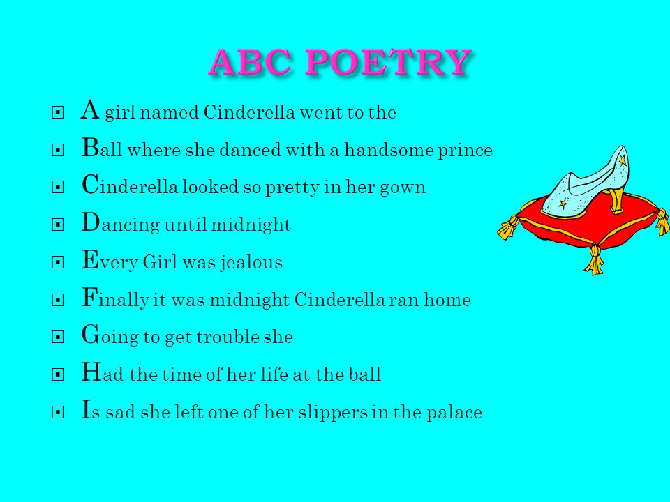 cinderella poem Although the poems in transformations are a departure from the confessional mode for which sexton is so well known, many of the poems in this collection, including cinderella, are, like the.