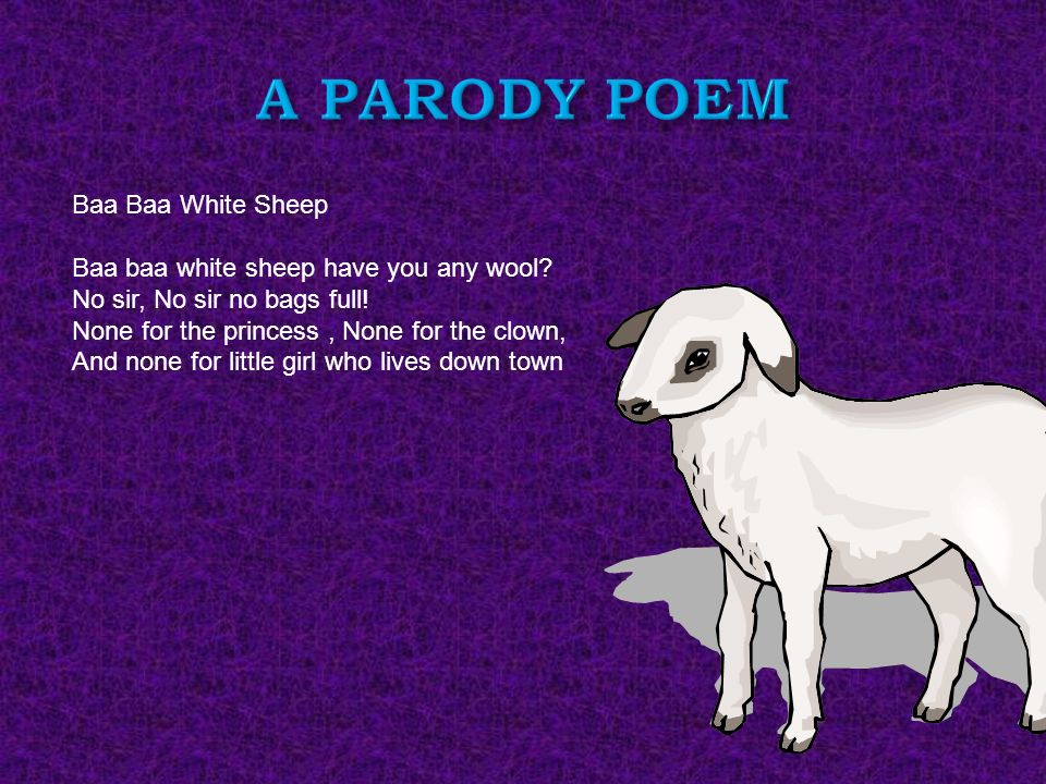 parody poems Poetry, or parody by mikhail simkin  some of these verses are masterpieces, created by the great modernist poets of the early 20th century, ezra pound and amy lowell.
