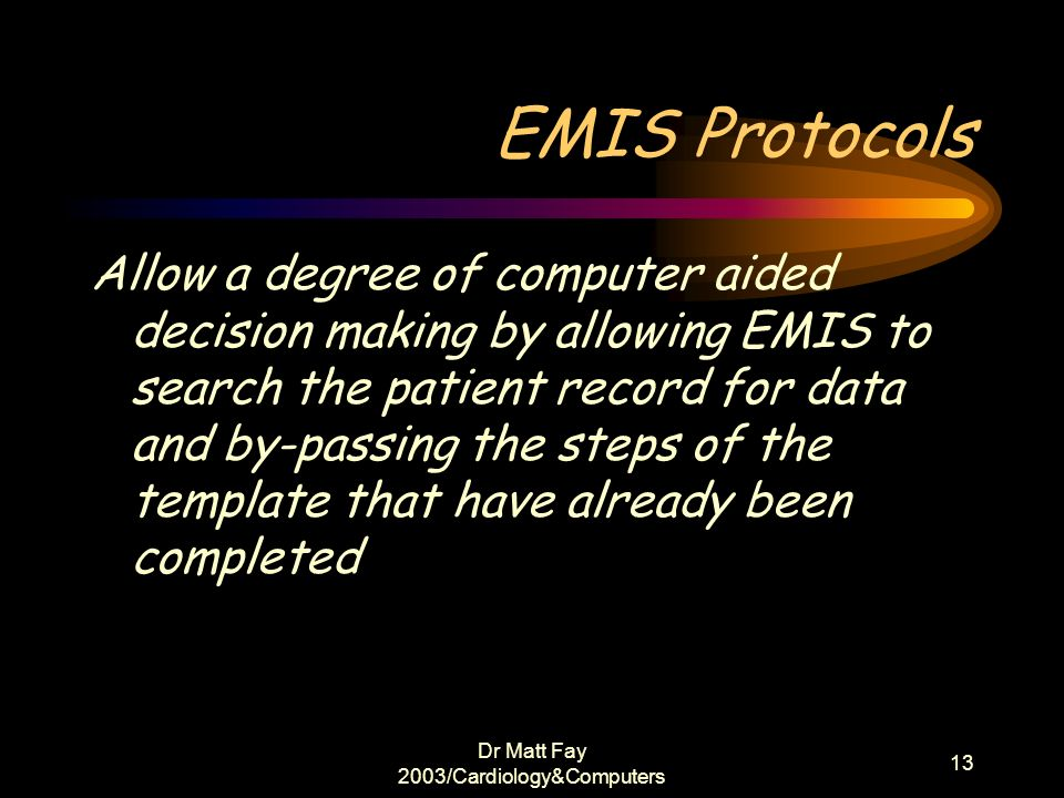 Dr Matt Fay 2003/Cardiology&Computers