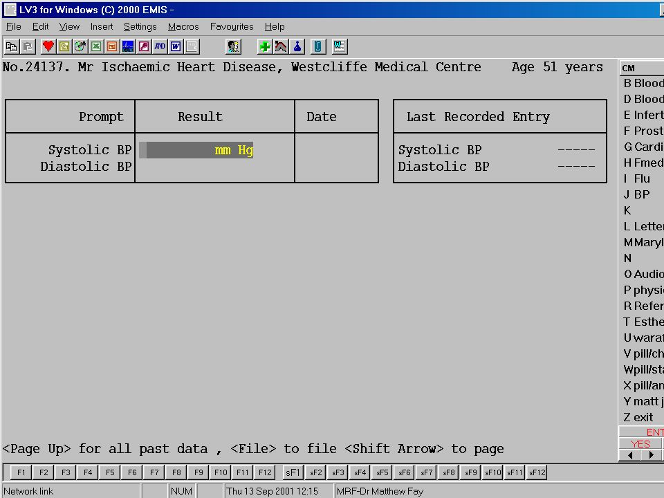 Dr Matt Fay 2003/Cardiology&Computers