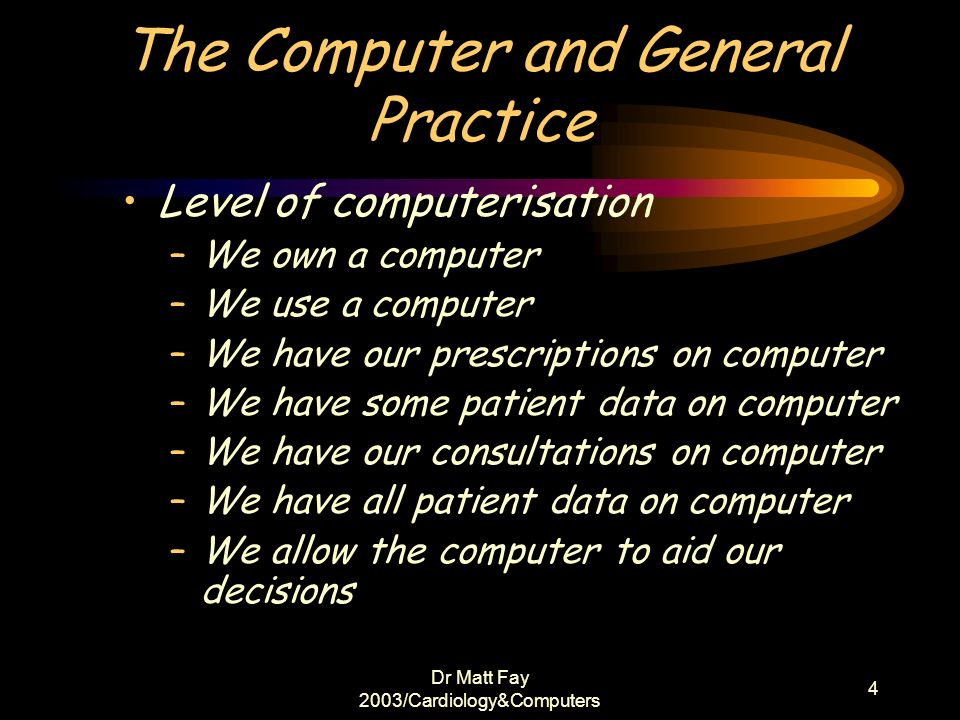 The Computer and General Practice