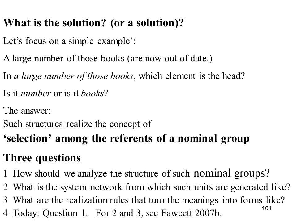 What is the solution (or a solution)