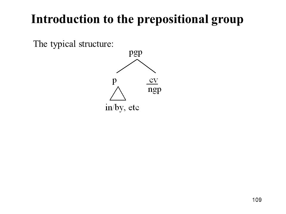 Introduction to the prepositional group