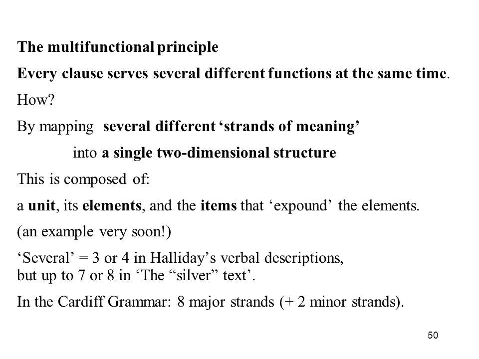 The multifunctional principle