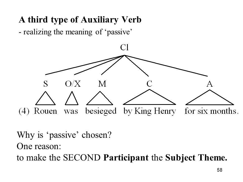 A third type of Auxiliary Verb