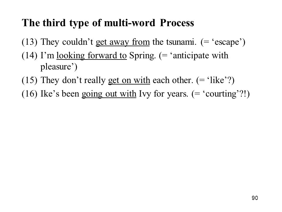 The third type of multi-word Process